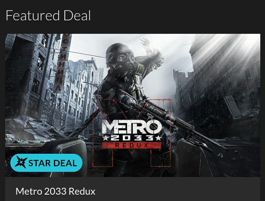 [Fanatical] Star deal: Metro 2033 Redux