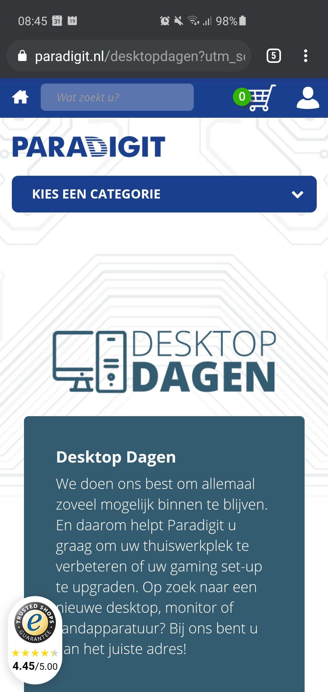 Desktopdagen bij paradigit