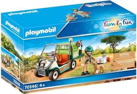 PLAYMOBIL Family Fun Dierenverzorger met voertuig - 70346