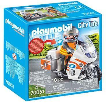 Playmobile spoedarts op Motor