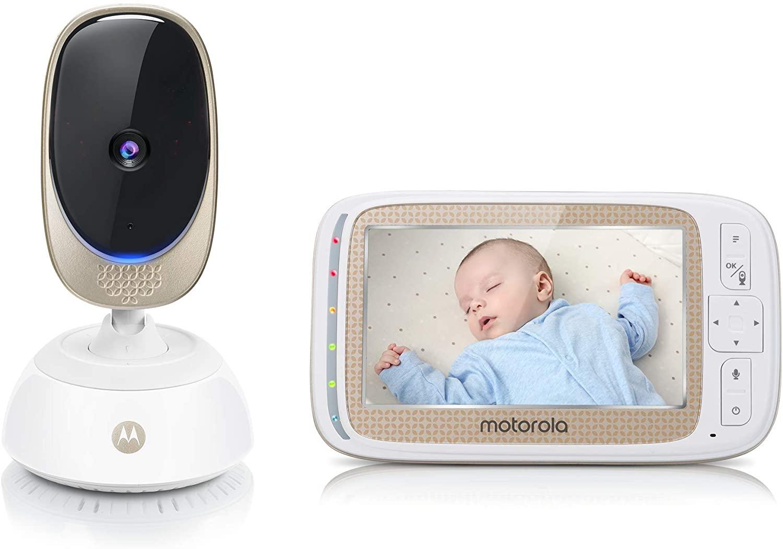 """Motorola Comfort 85 Connect - Video-babyfoon met pan- en zoomfunctie,5,0"""" kleurendisplay, Nachtzicht, Teruspreekfunctie en Temperatuursensor"""
