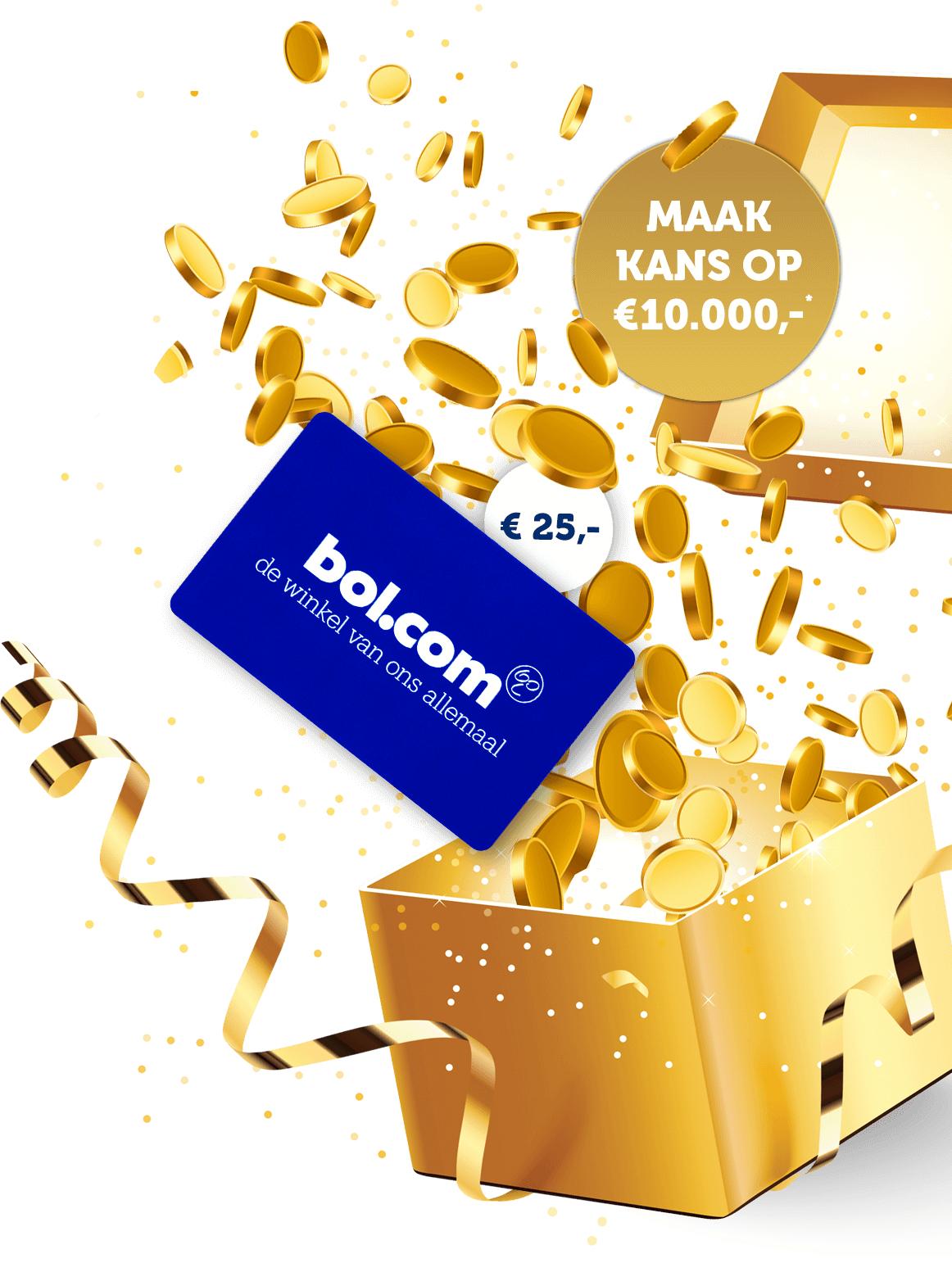 €25,- bol.com cadeaubon bij meespelen met Staatsloterij