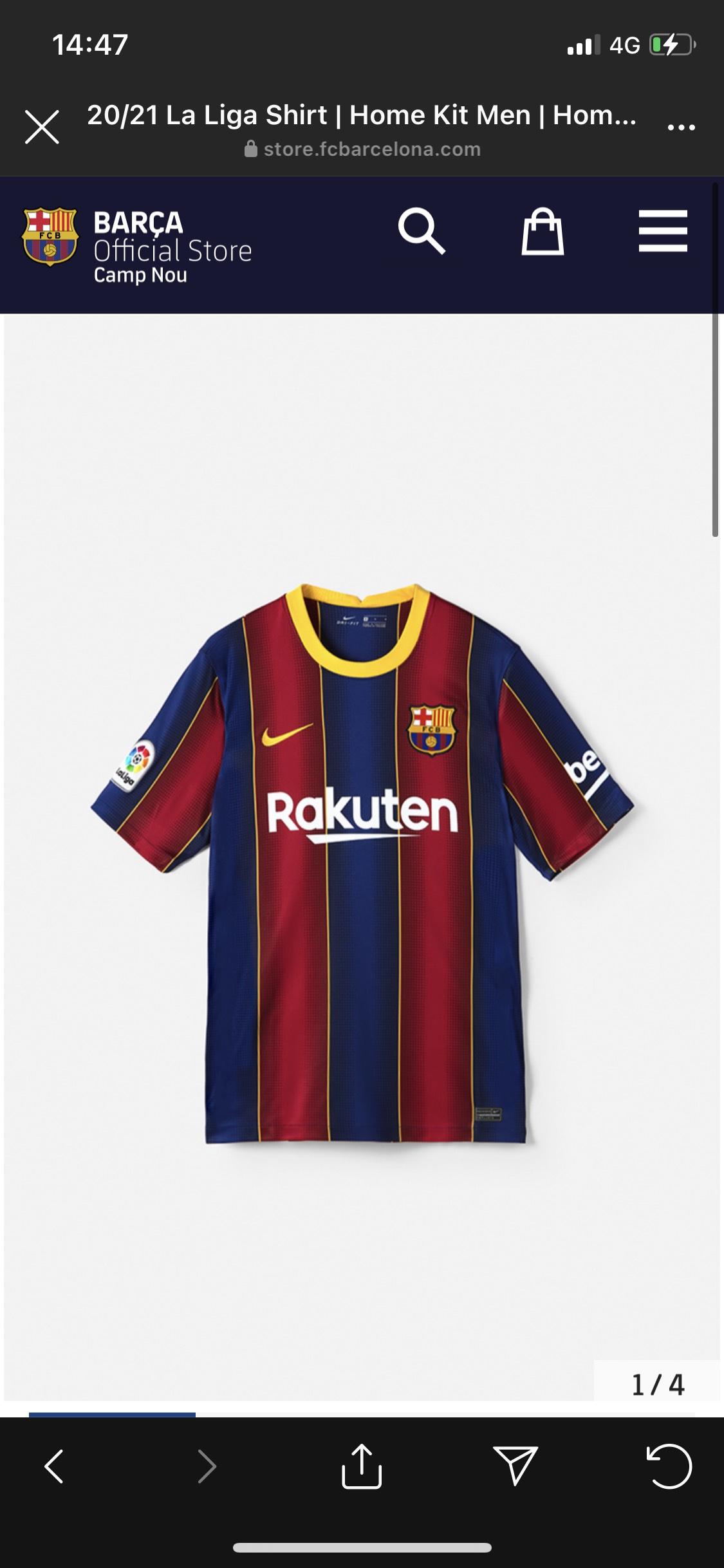 FC Barcelona 20/21 thuisshirt
