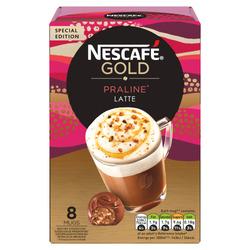 Nescafé oploskoffie 8-25 koppen €1,79 @ Trekpleister én @ Kruidvat, bijvoorbeeld Nescafé Gold Praliné Latte van €2,83 voor €1,79