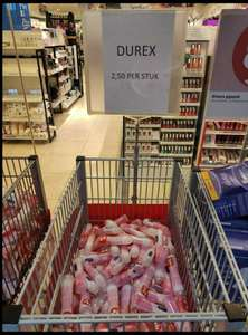 Lokaal Etos Rotterdam Zuidplein Durex glijmiddel 2,50