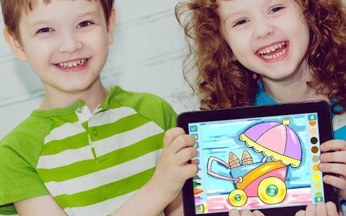 Eerste kleurboek voor kleuterschool kinderen