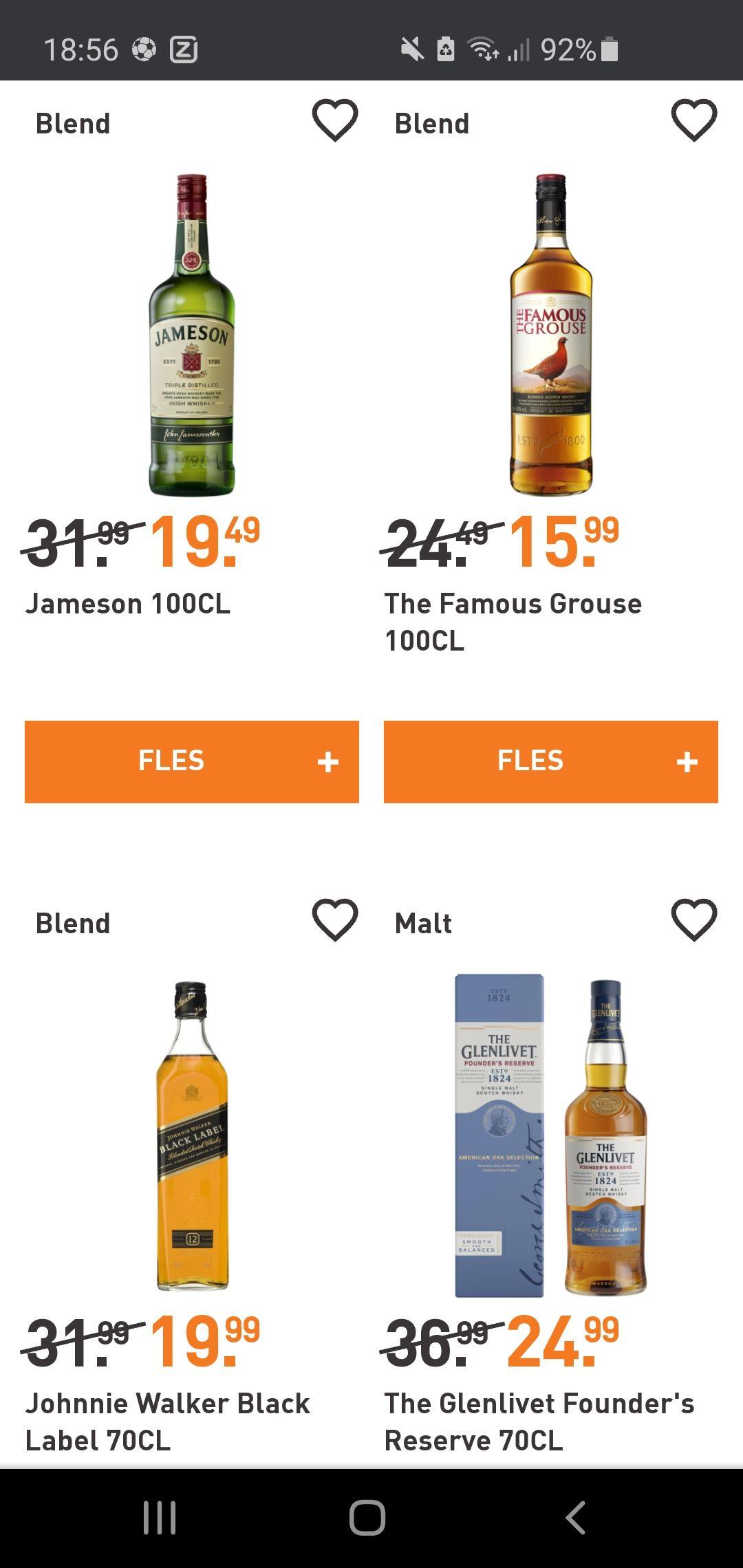 Alle whisky's in de aanbieding!