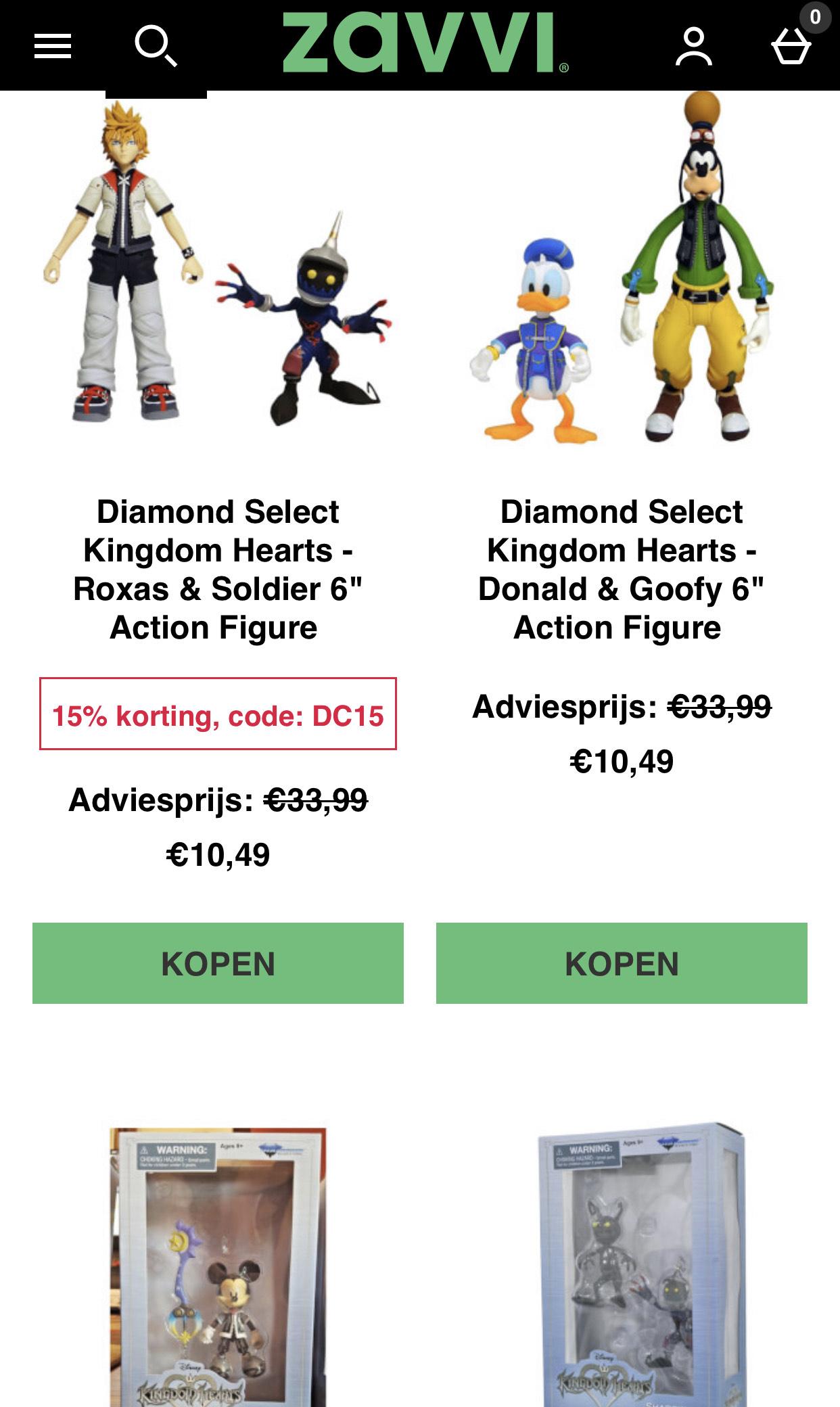 Diamond Select Kingdom Hearts Action Figures
