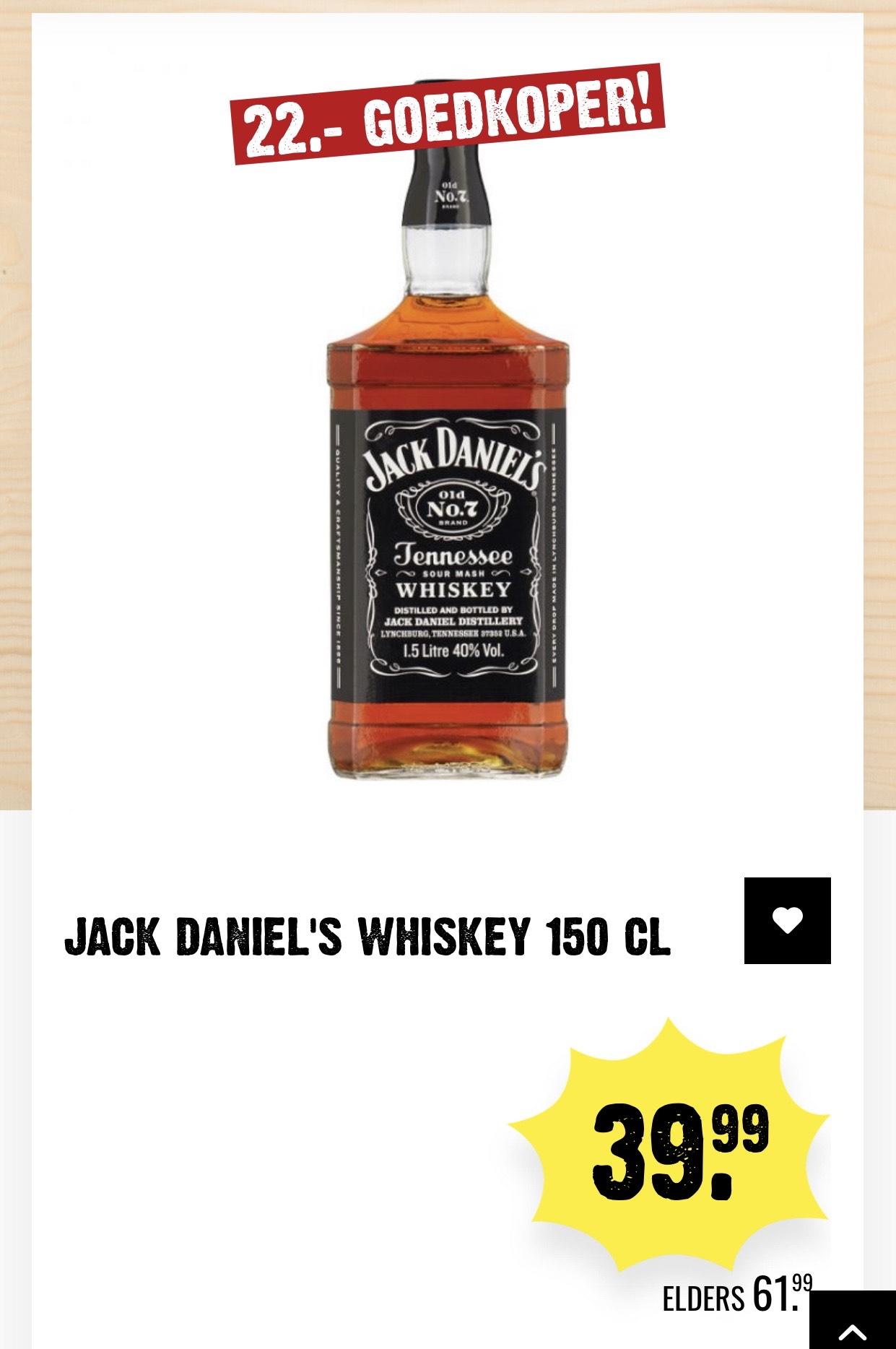 Jack Daniels Whiskey 150 CL @Dirk lll