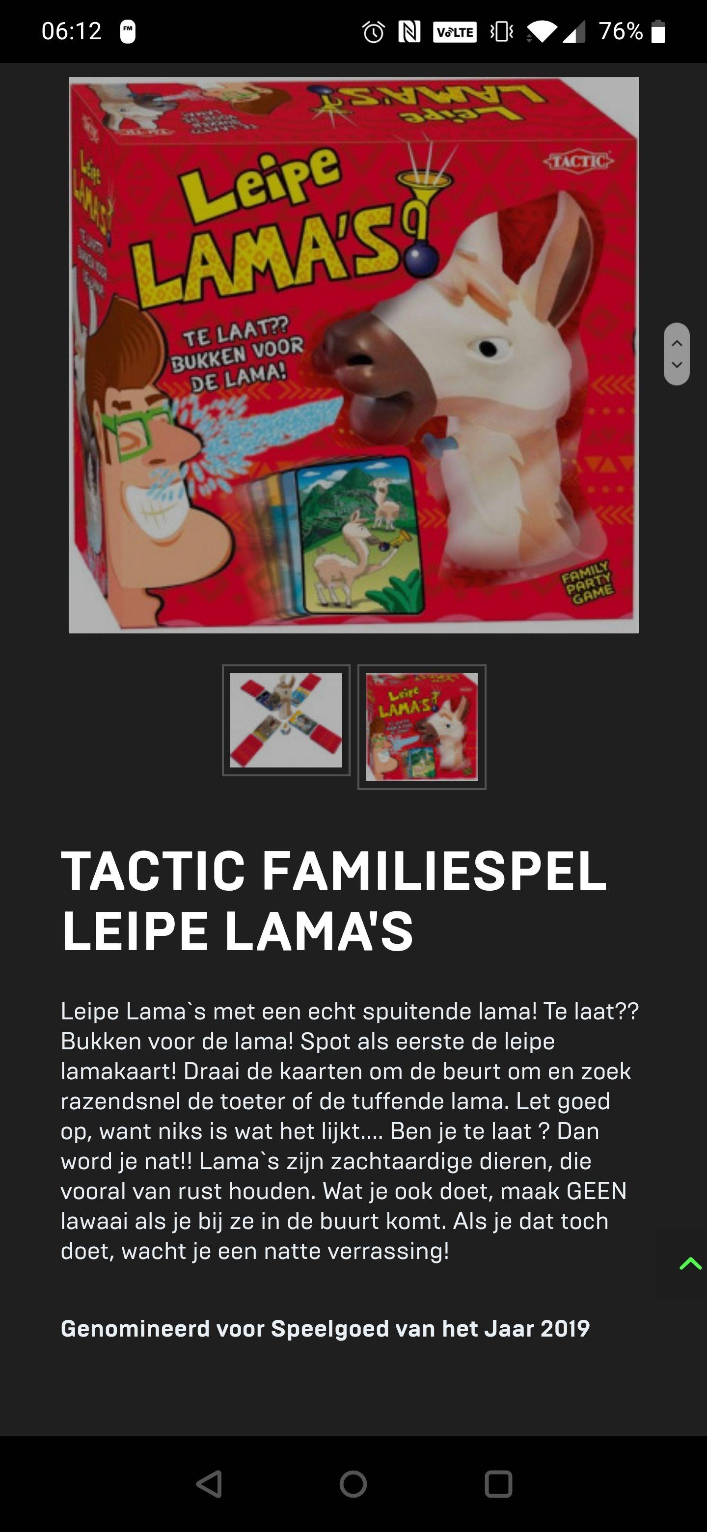 Tactic Familiespel Leipe Lama's