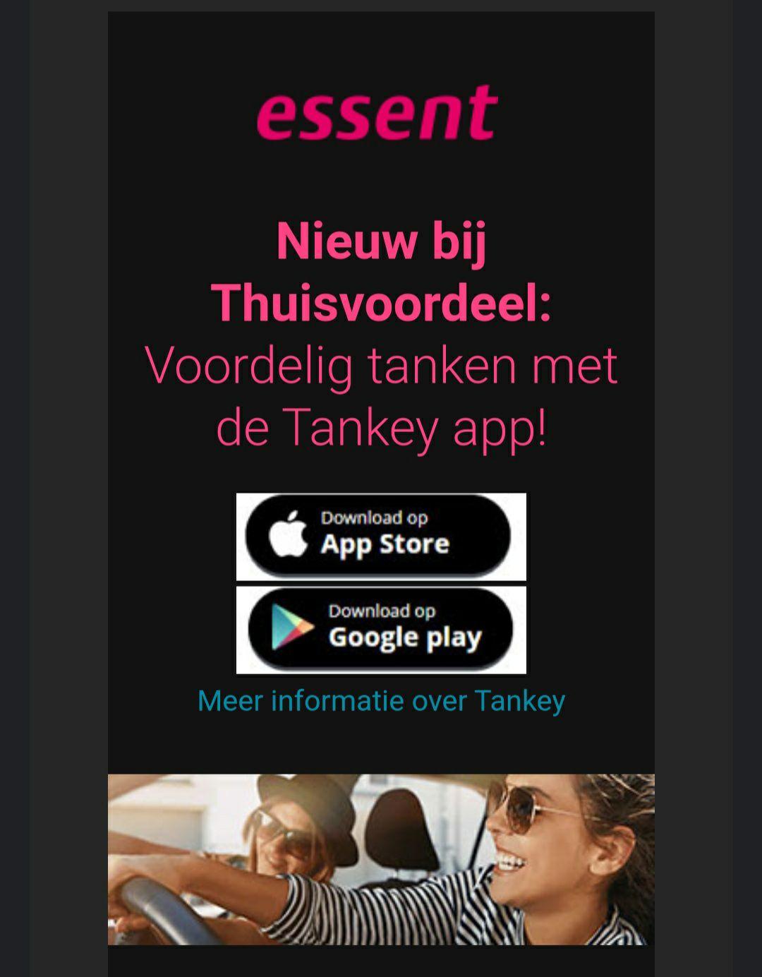 Essent thuisvoordeel: voordelig tanken met Tankey app