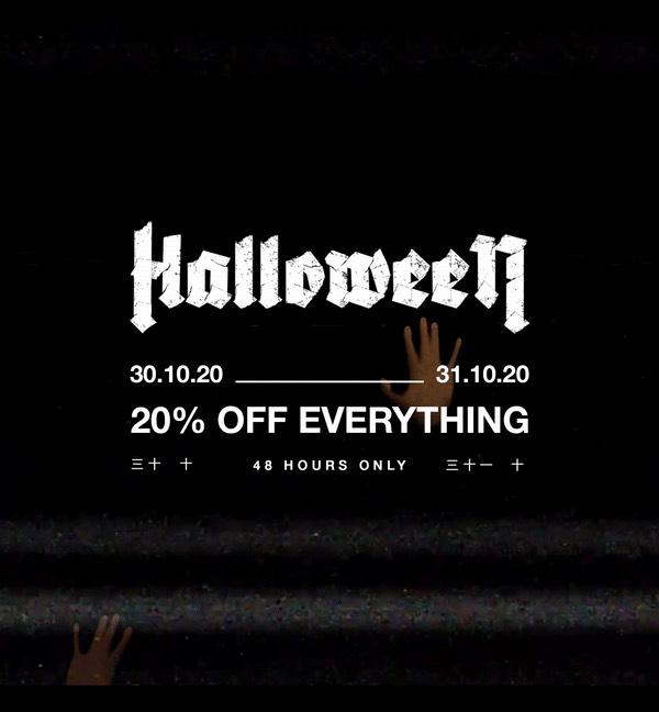 Halloween sale bij sneakerBAAS 20% off
