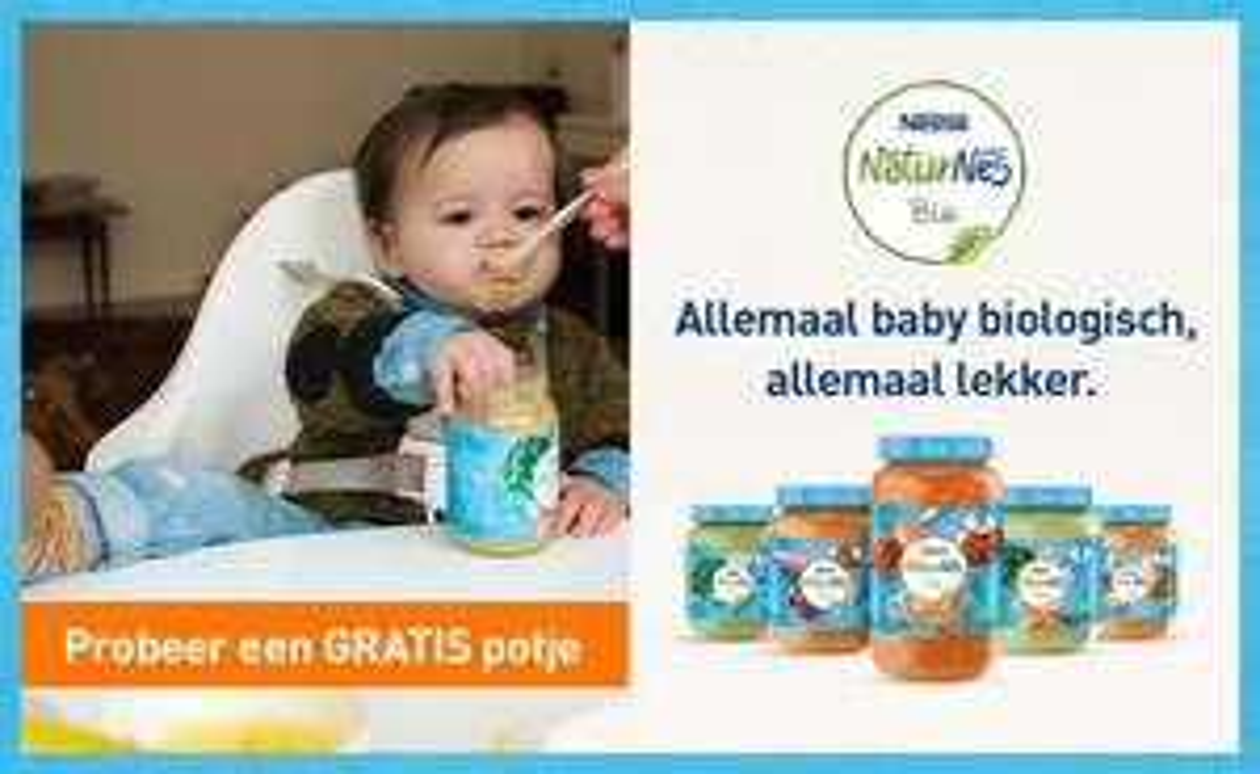 Gratis potje NaturNes babyvoeding