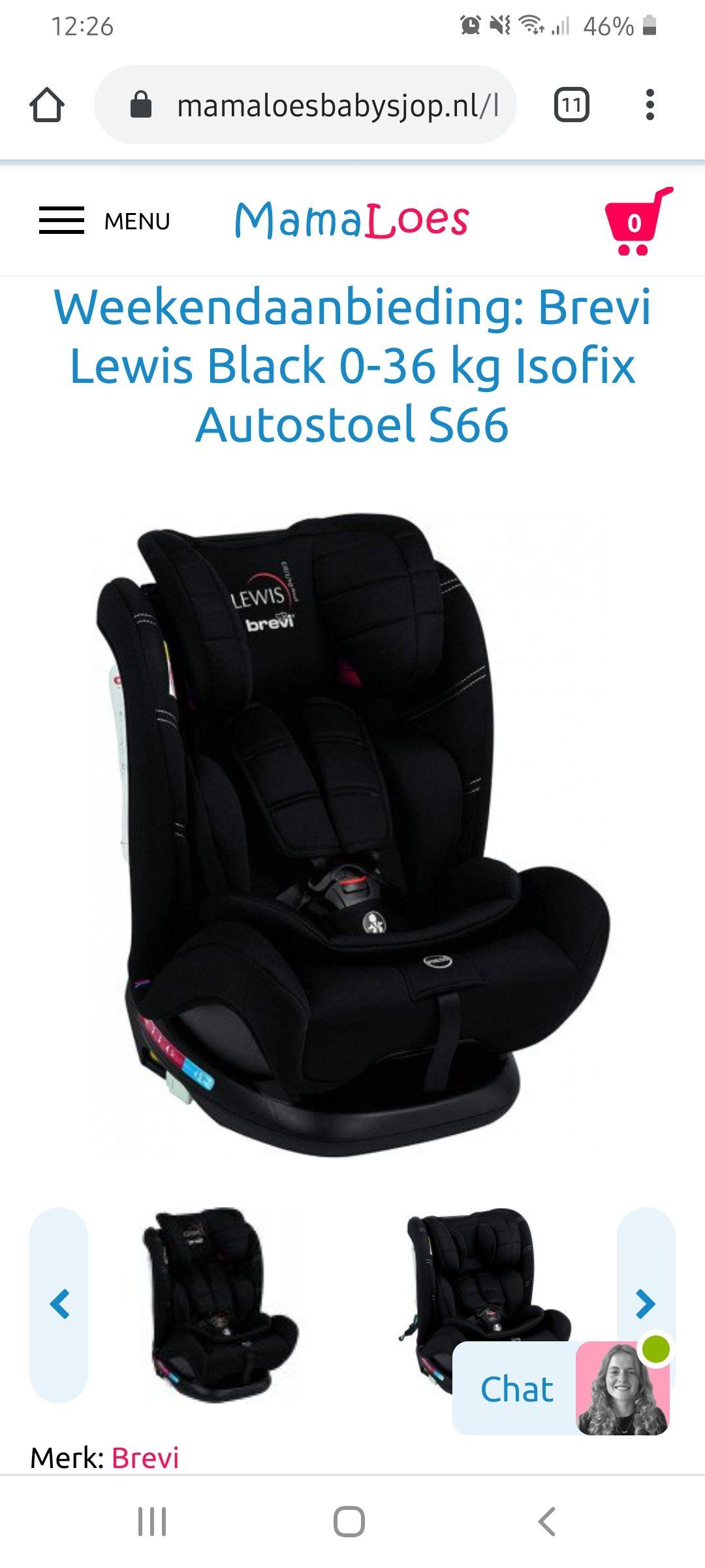 Brevi Lewis Autostoel 0-36KG