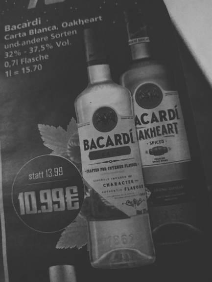 Bacardi alle soorten 0.7 l grensdeal @K&K Duitsland