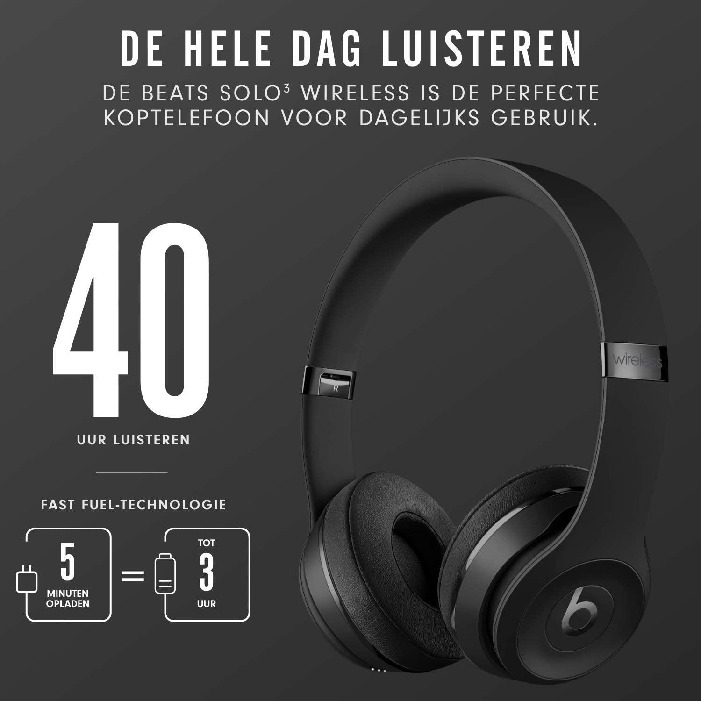 Beats Solo3 (Zwart) Wireless on-ear-koptelefoon - Apple W1-koptelefoonchip