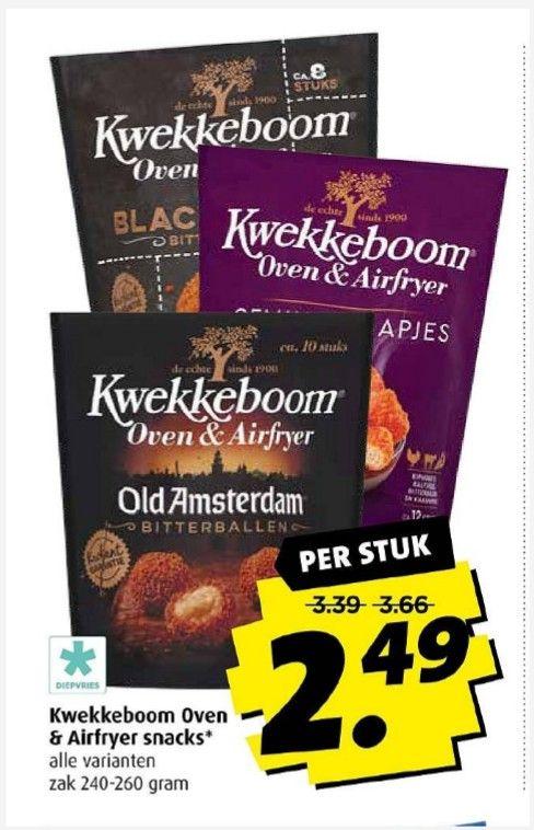 Kwekkeboom oven en airfryer Snacks @Boni