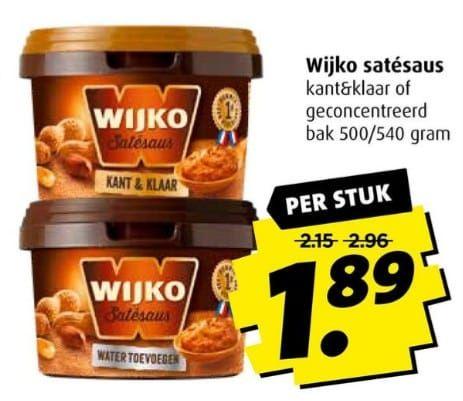 Wijko satesaus @ Boni