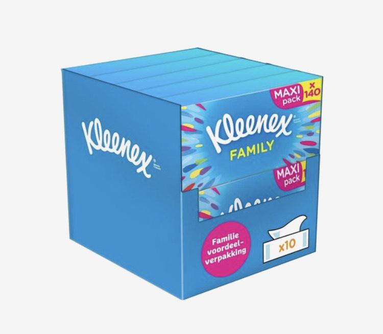 Kleenex Family Box Original Tissues 10 x 140 sheets