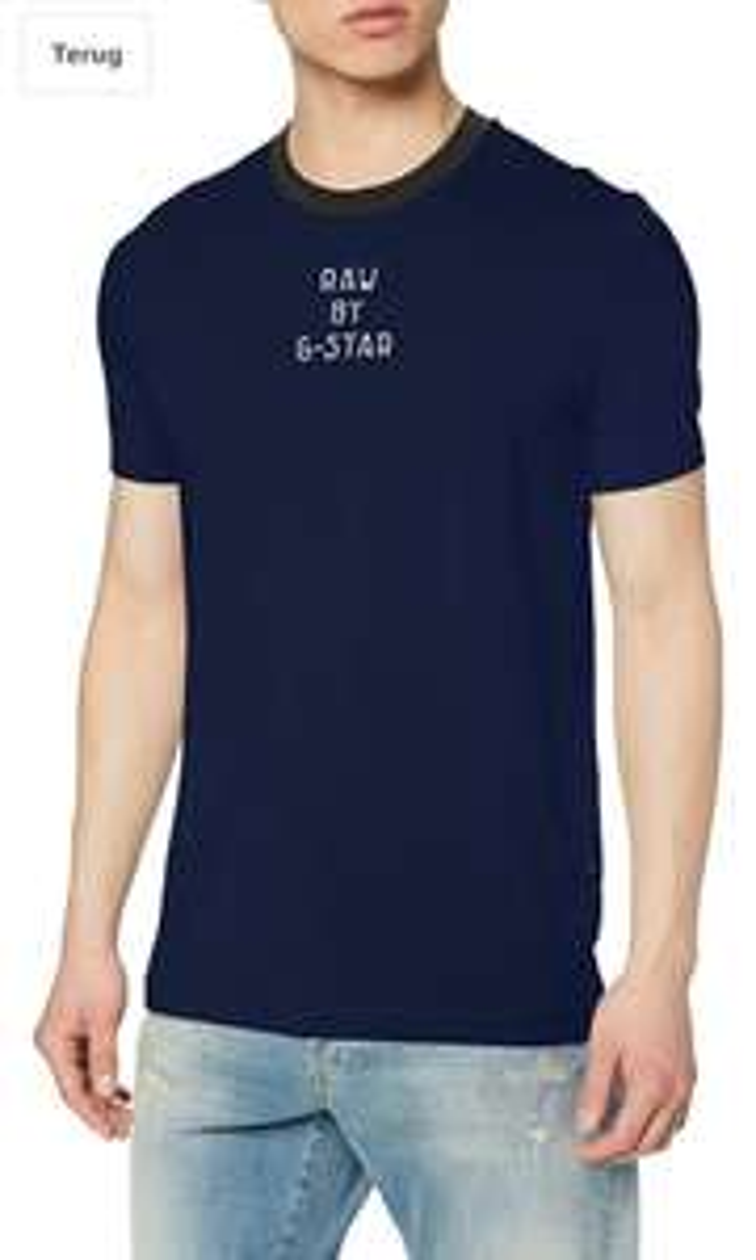G-Star RAW Heren Text GR Slim Fit T-Shirt