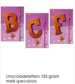 3 voor 5 euro : speciale chocoladeletters