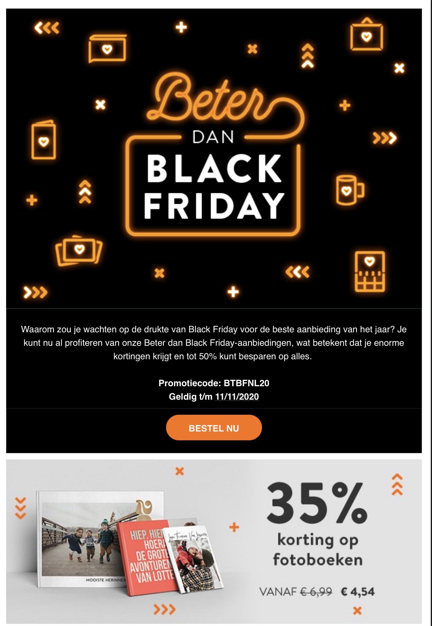 Albelli: Beter dan Black Friday