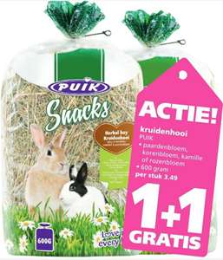 Ranzijn tuin&dier puik kruidenhooi 1+1 gratis