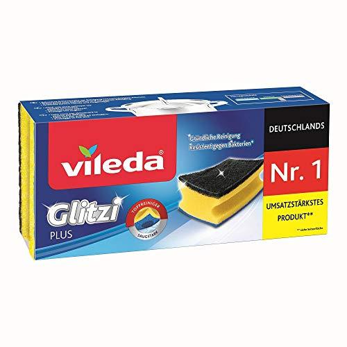 Vileda Glitzi Plus Schuursponsjes 3 stuk in verpakking voor maar €0,92!