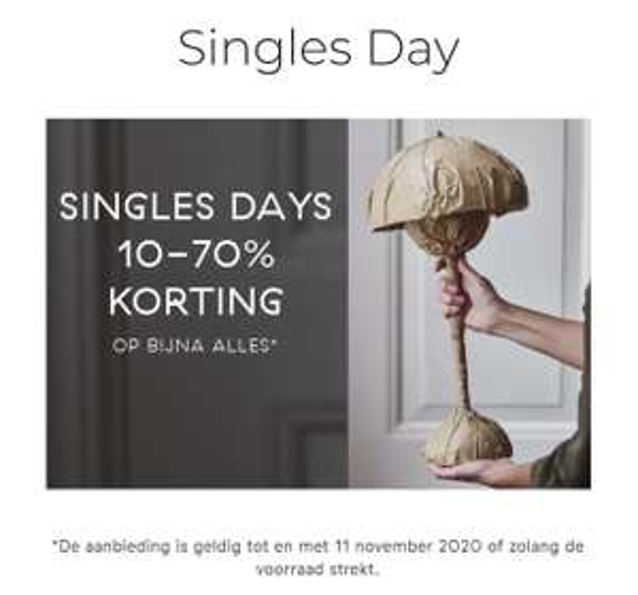 10-70% korting bij Nordic Nest 'singles days'