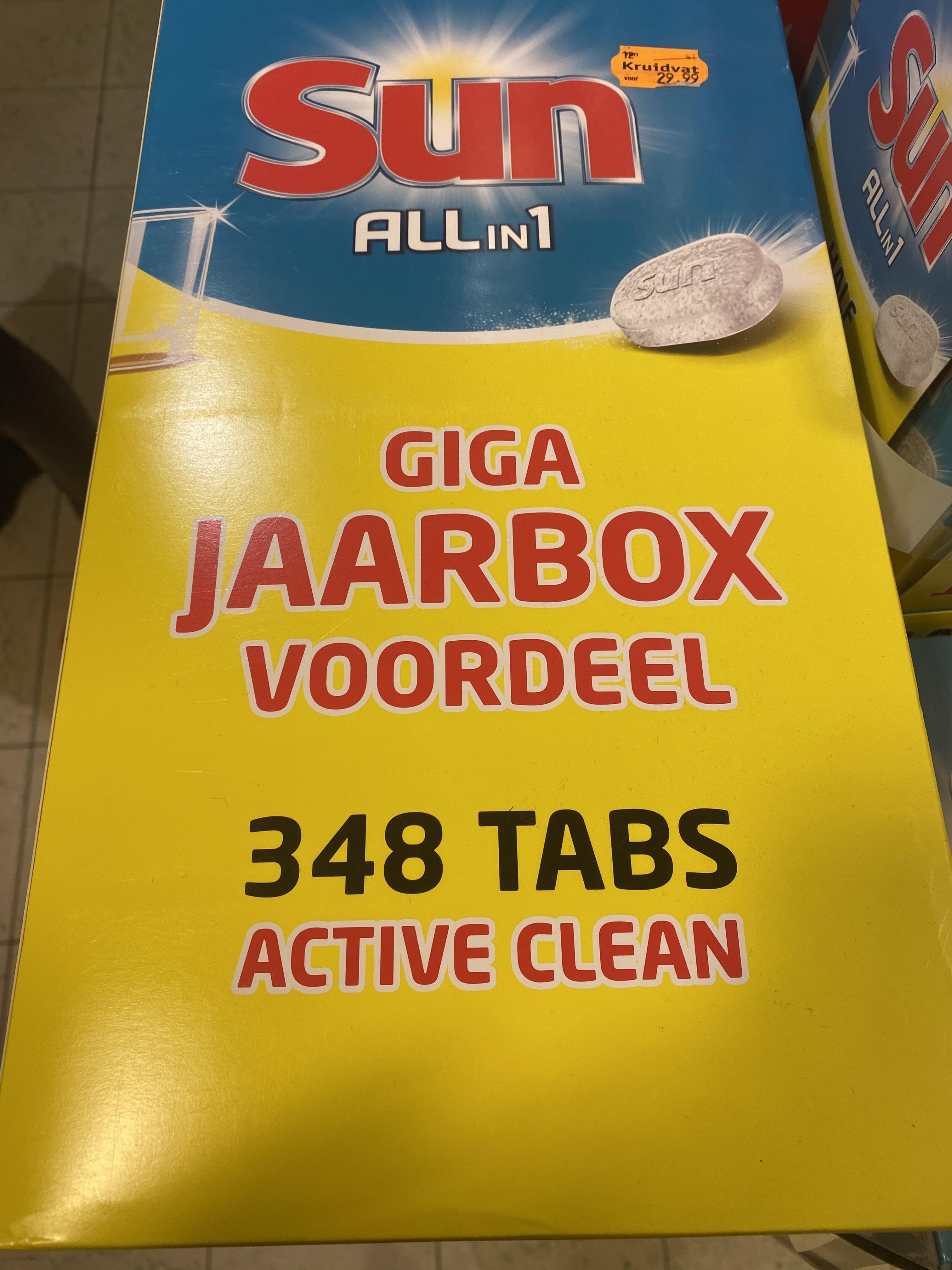 [Lokaal Leeuwarden?] Jaarbox (348 tabs) Sun all-in-1 vaatwastabletten