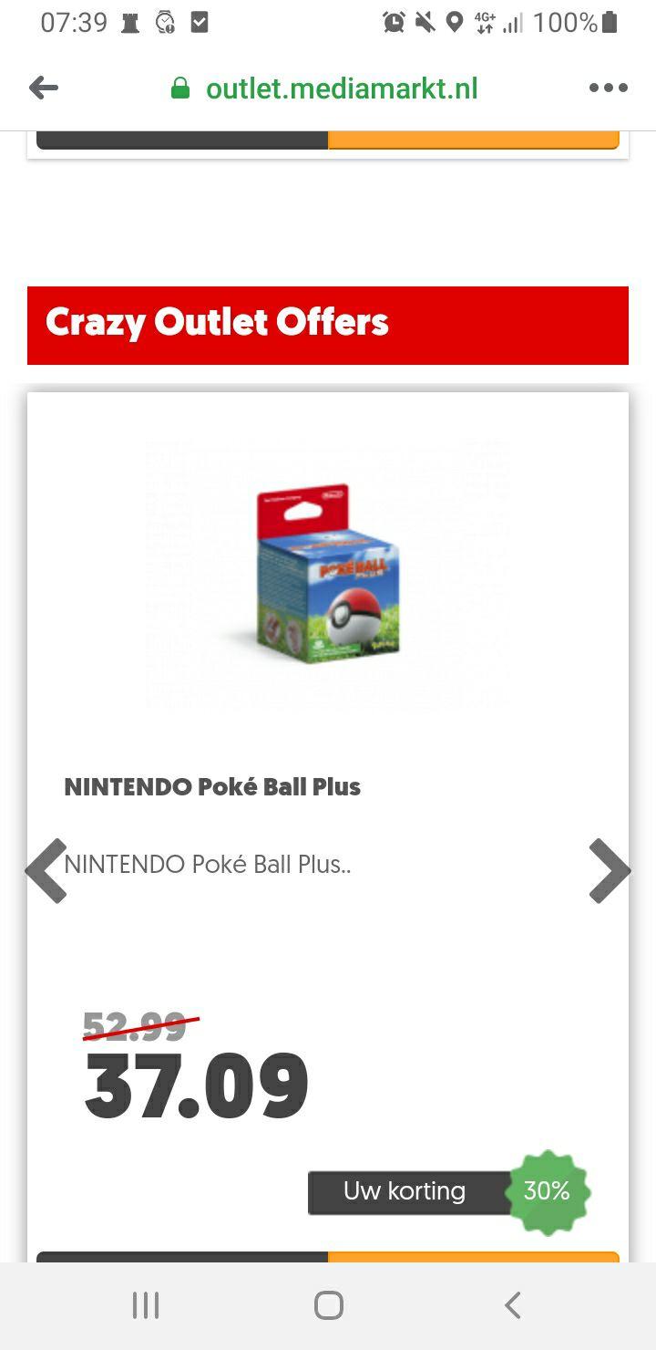 Mediamarkt outlet: pokeball plus voor €37,09