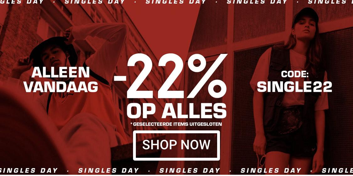 Snipes: 22% korting op bijna alles