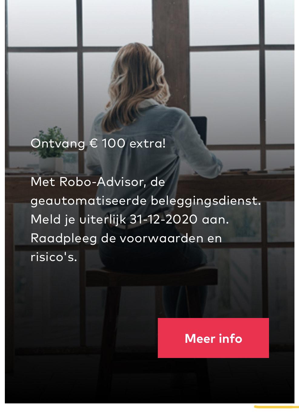 """Openbank Robo-advisor 100 euro actie (""""Gratis"""" geld)"""