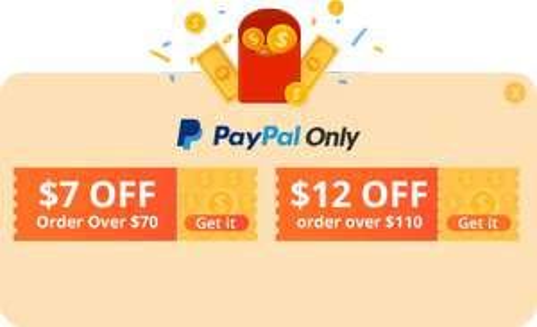 Banggood + paypal: $12 korting vanaf 110,- of 7$ korting vanaf $70,-