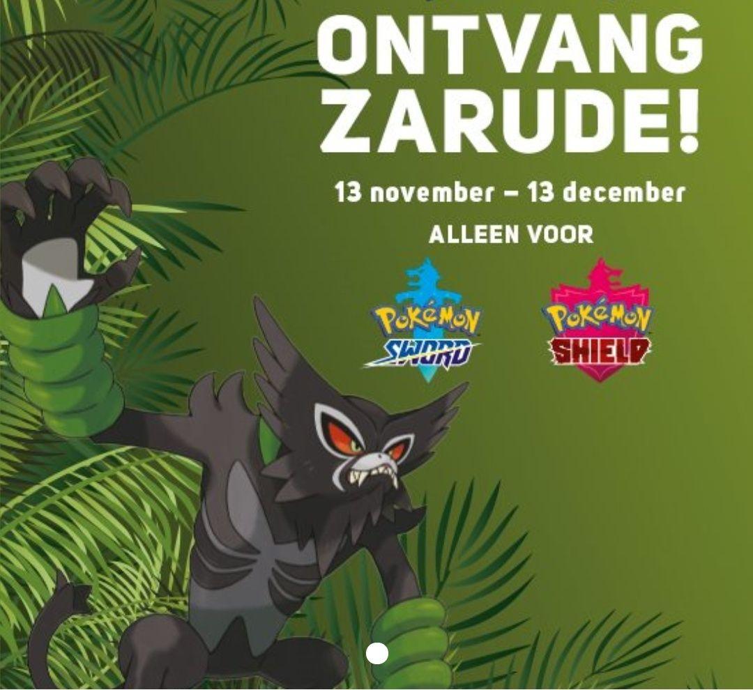 "[Nintendo Switch] Gratis de mythische Pokémon ""Zarude"" voor Pokémon Sword & Shield"