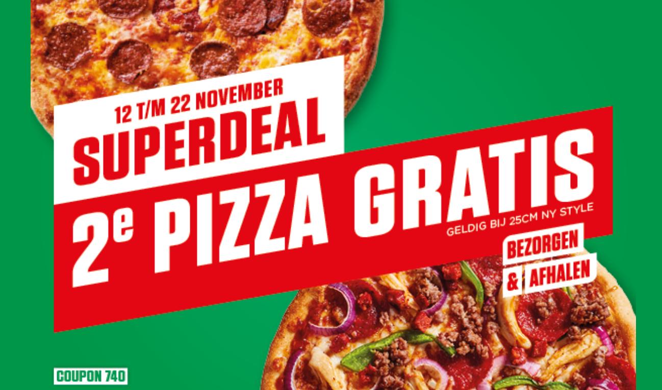 2e pizza gratis New York Pizza