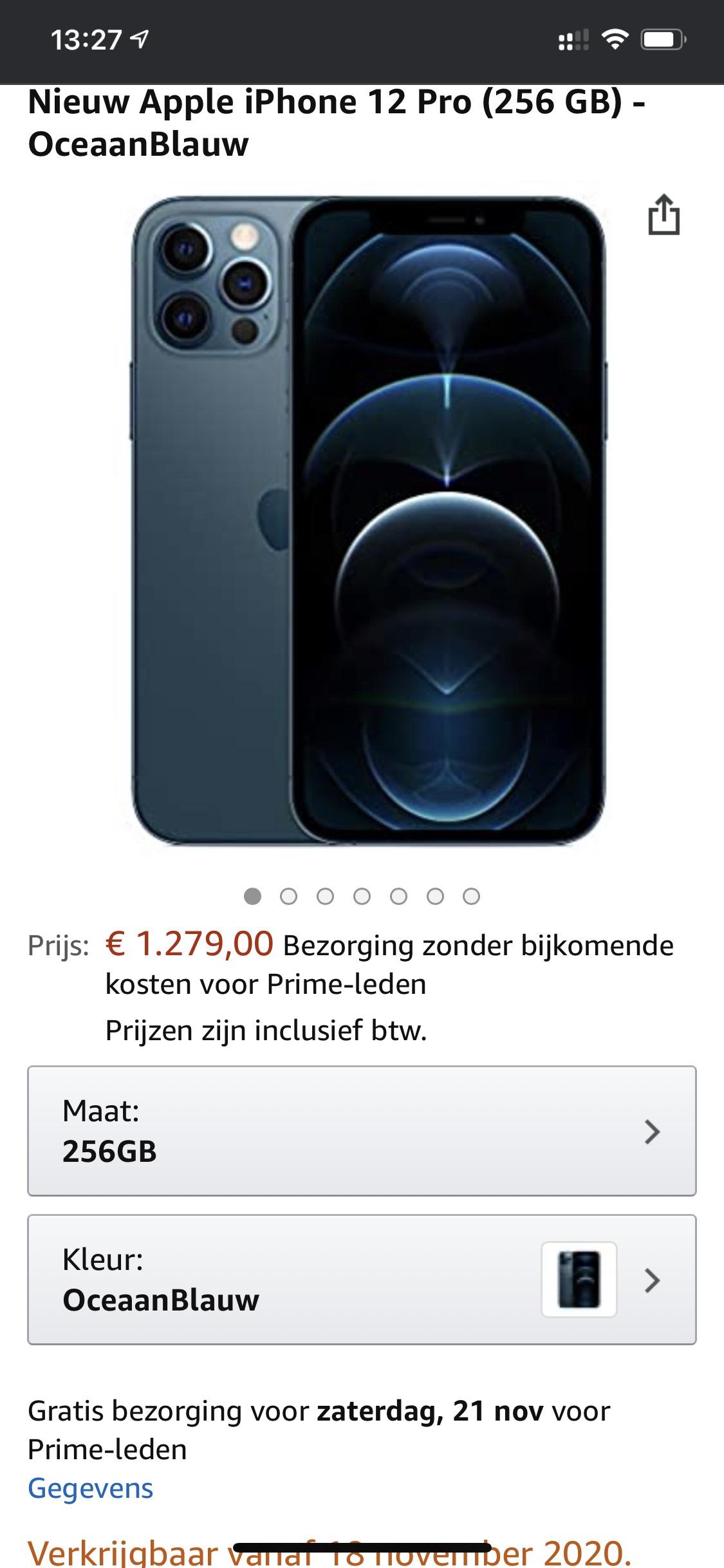 iPhone 12 Pro Max 256gb Oceaan Blauw.