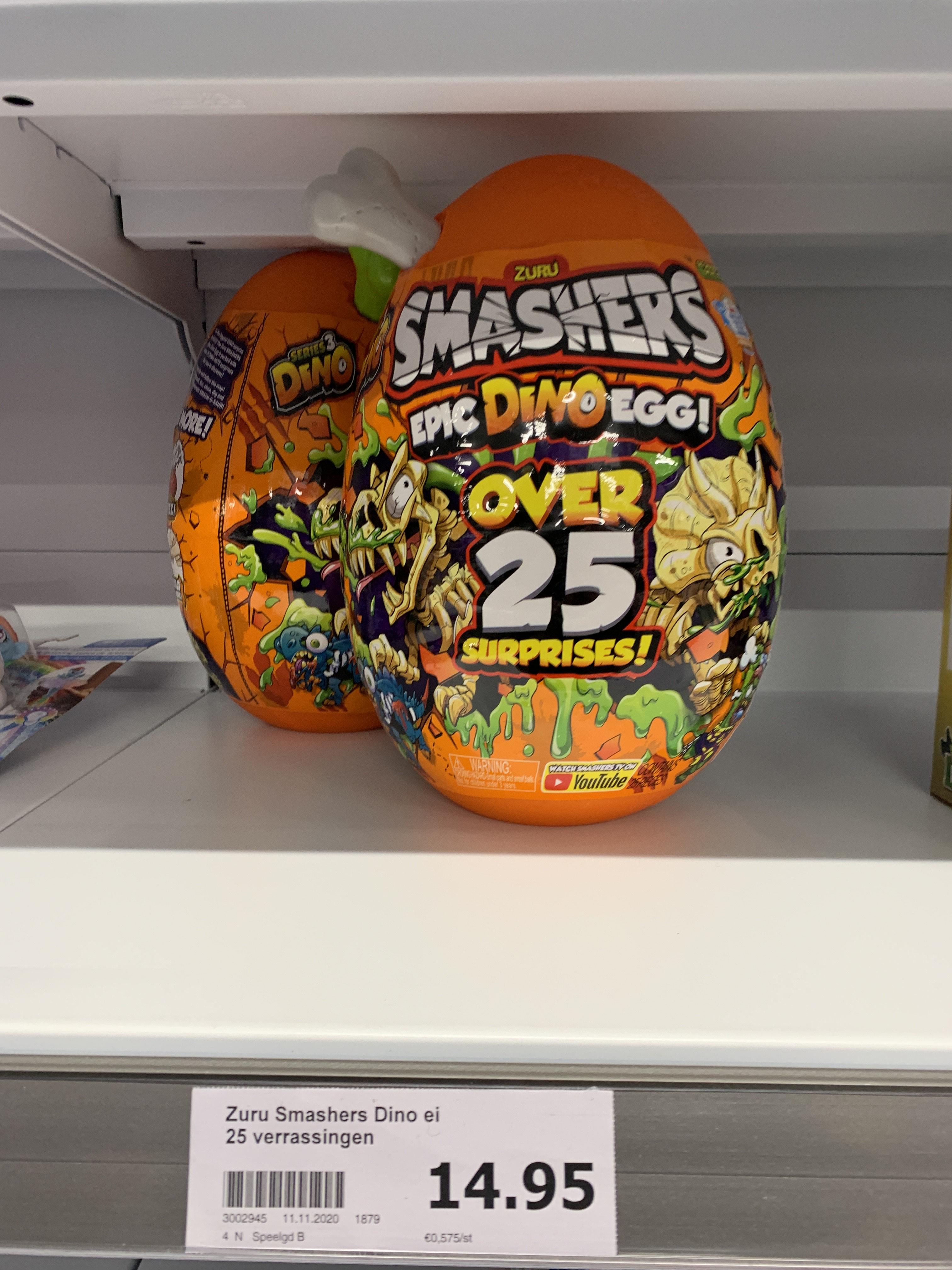 ACTION - ZURU SMASHERS Serie 3 Epic Dino Egg Collectibles