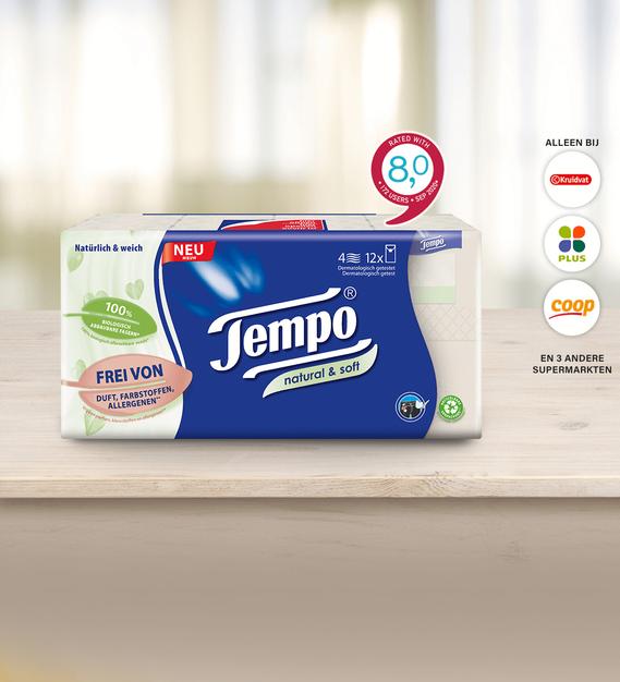 Scoupy Cashback: Tempo Natural & Soft zakdoekjes voor €1
