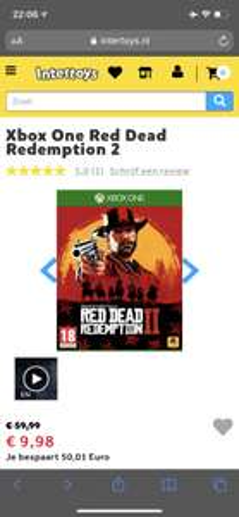Red dead redemption 2 voor de xbox one