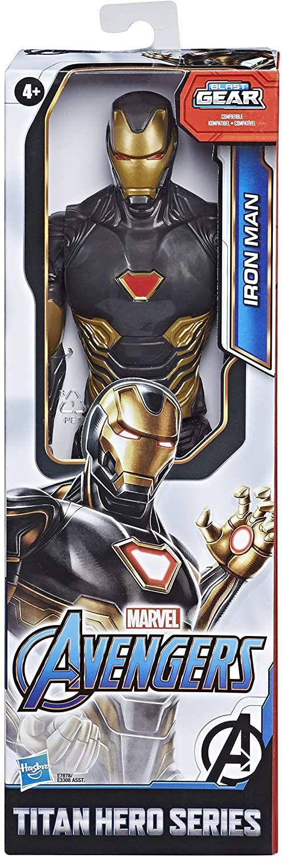 Avengers Titan Hero Figure Blk Gold Iron Man Marvel