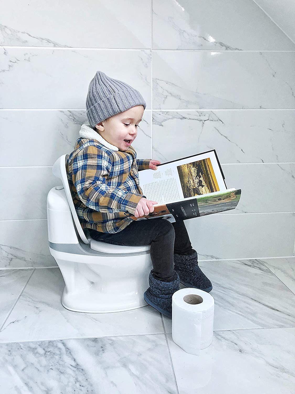 Plaspotje met Realistisch doorspoelgeluid van een toilet. Potty Training toilettrainer Voor kinderen vanaf 18 maanden. Nuby, My Real Potty