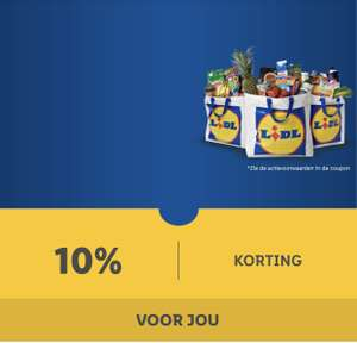 Lidl plus app aanbieding 10% korting op uw kassa bon*