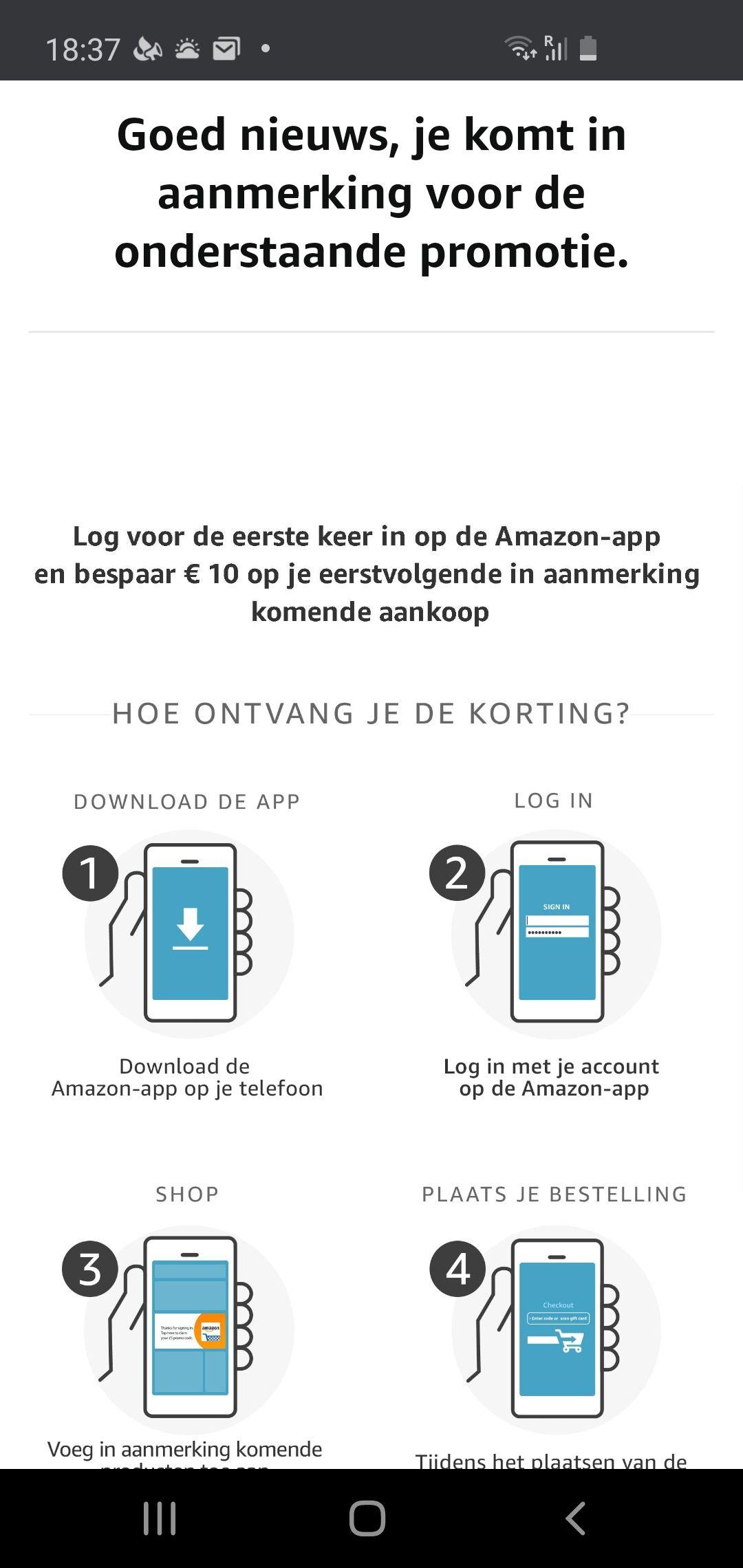 10 euro korting amazon.nl bij besteding 30 euro ff beschrijving lezen