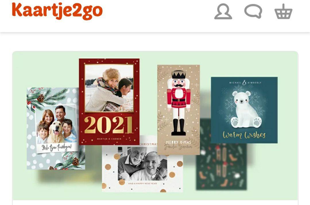 Gratis kerstkaart voor ouderen via Kaartje2go twv €3,90