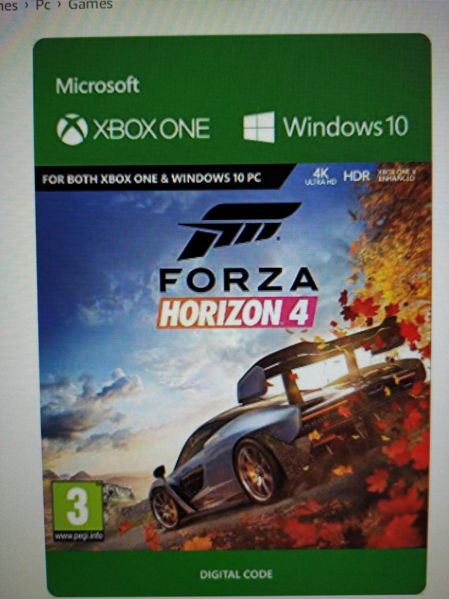 Forza Horizon 4 Xbox/Windows 10 code @Amazon.de