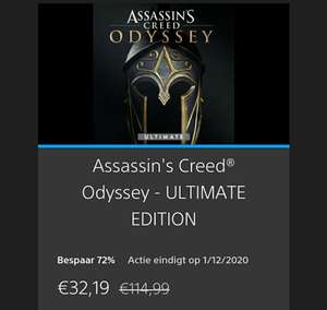 Playstation 4 Assassin's Creed Odyssey - Ultimate edition