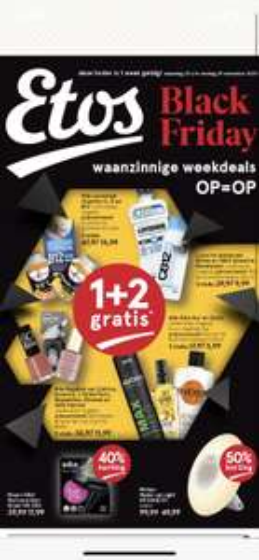 Black Friday deals: 1+2 gratis Etos