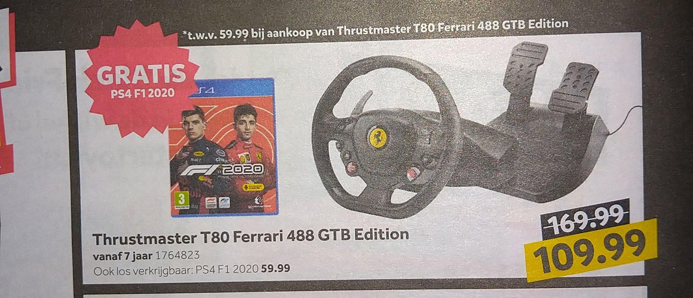 Gratis game bij aankoop van Thrustmaster T80 Ferrari 488 GTB Edition @intertoys