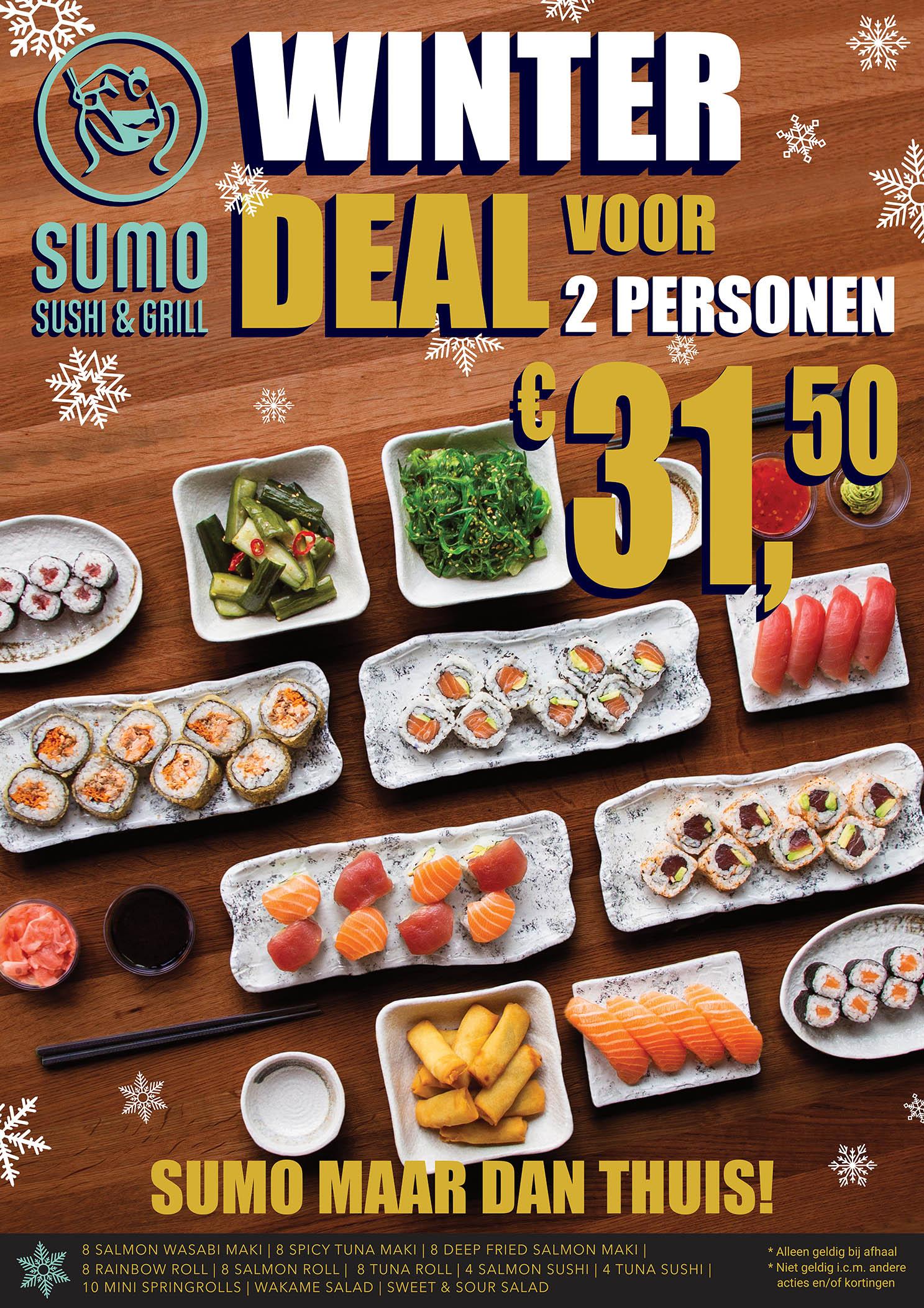 Winterdeal bij Sumo Sushi & Grill restaurants
